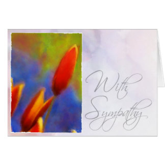 Watercolor Buds-Sympathy Greeting Cards