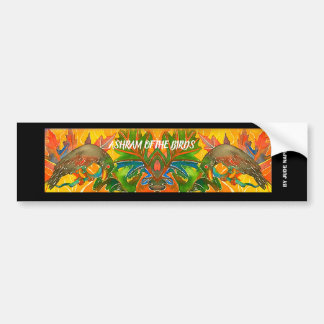 watercolor bumper sticker of birds