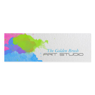 Watercolor Pack Of Skinny Business Cards