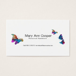 Watercolor Butterflies Animal Wildlife Colorful Business Card