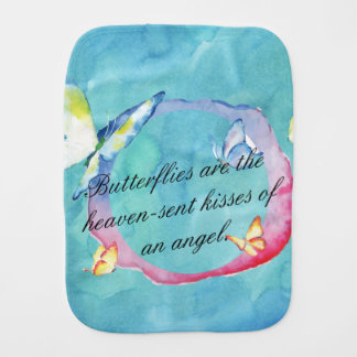 Watercolor Butterflies Burp Cloth
