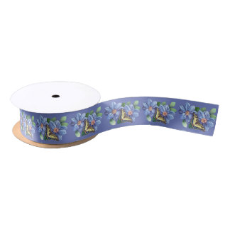 Watercolor Butterfly 1.5 inch Satin Ribbon