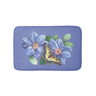 Watercolor Butterfly Bath Mats