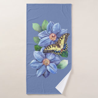 Watercolor Butterfly Bath Towel
