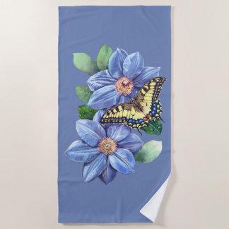 Watercolor Butterfly Beach Towel