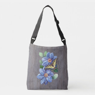 Watercolor Butterfly Cross Body Bag