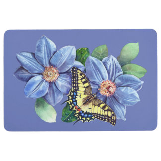 Watercolor Butterfly Floor Mat