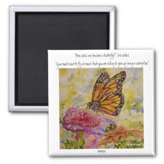 Watercolor Butterfly Inspiration Quote Magnet