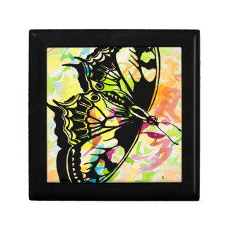 Watercolor Butterfly Keepsake Box (yellow)