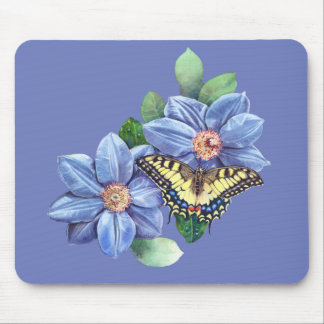 Watercolor Butterfly Mouse Pad