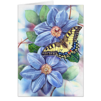 Watercolor Butterfly Note Card