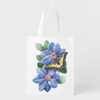 Watercolor Butterfly Reusable Grocery Bag