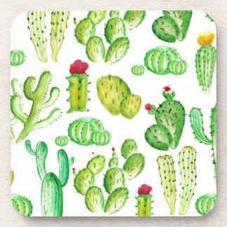 Watercolor Cacti Coaster