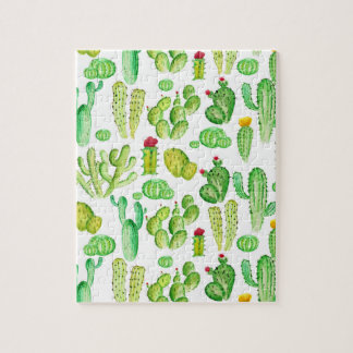Watercolor Cacti Jigsaw Puzzle