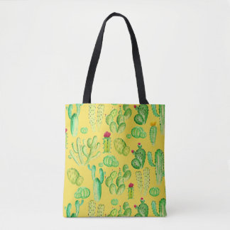 Watercolor Cacti Tote Bag