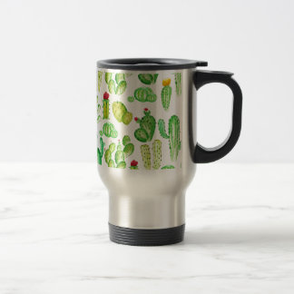 Watercolor Cacti Travel Mug
