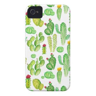 watercolor cactus Case-Mate iPhone 4 cases