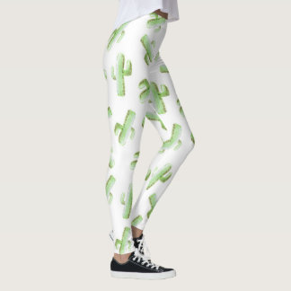Watercolor Cactus Leggings
