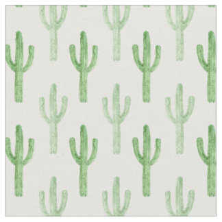 Watercolor Cactus Pattern Fabric