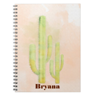 Watercolor Cactus Simple Southwestern Journal