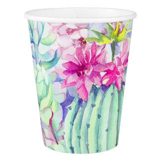 Watercolor Cactus & Succulents Paper Cup