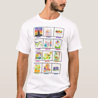 Watercolor Calendar T-Shirt