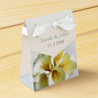 watercolor calla lilies Floral Wedding favor box Party Favour Boxes