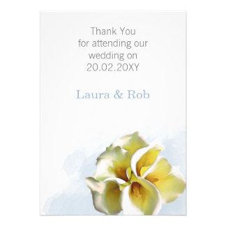 watercolor calla lilies Wedding Thank You cards