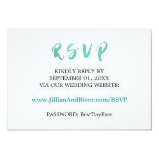 watercolor calligraphy beach wedding website rsvp card