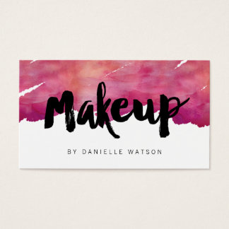 Watercolor Calligraphy Makeup Artist