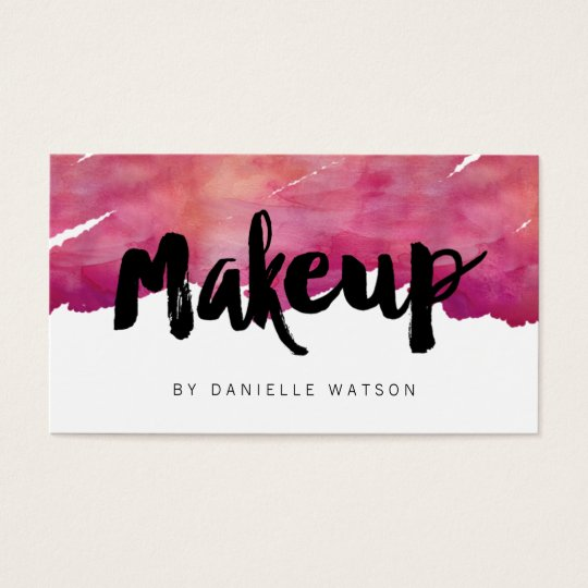 Makeup artist business card vatozozdevelopment makeup artist business card reheart Images