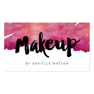 Watercolor Calligraphy Makeup Artist Pack Of Standard Business Cards