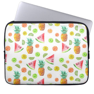 Watercolor Candied Fruit Pattern Laptop Sleeve