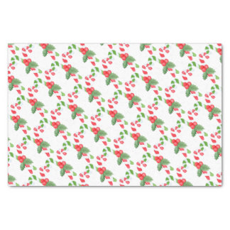 Watercolor Candy Cane Christmas Tissue Paper