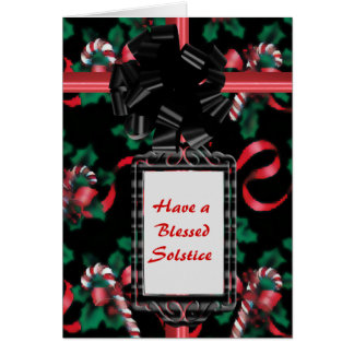 Watercolor Candy Canes Card