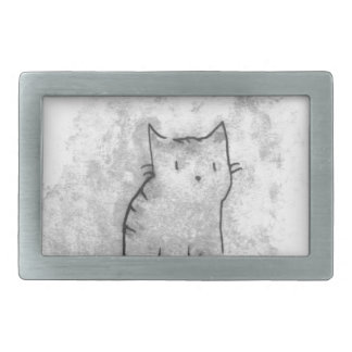 Watercolor Cat Design Belt Buckles