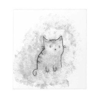 Watercolor Cat Design Notepad