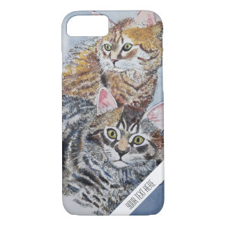 Watercolor Cats Custom Phone Case