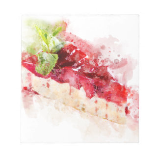 Watercolor cheesecake notepad