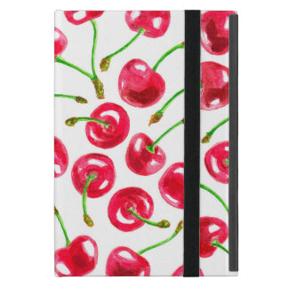 Watercolor cherries pattern case for iPad mini