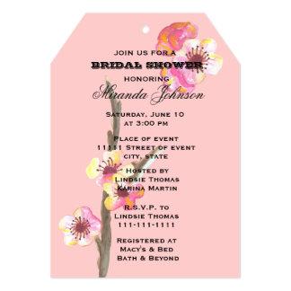Watercolor Cherry Blossom  Bridal Shower 13 Cm X 18 Cm Invitation Card