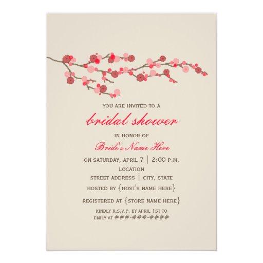 Watercolor Cherry Blossom Bridal Shower Invite