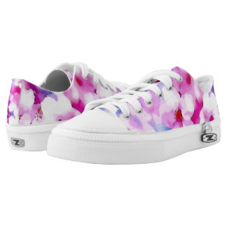 Watercolor Cherry Blossoms Printed Shoes