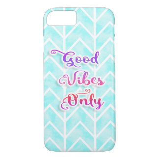 Watercolor Chevron Good Vibes Only iPhone 8/7 Case
