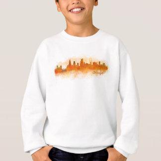 watercolor Chicago skyline cityscape v03 Sweatshirt