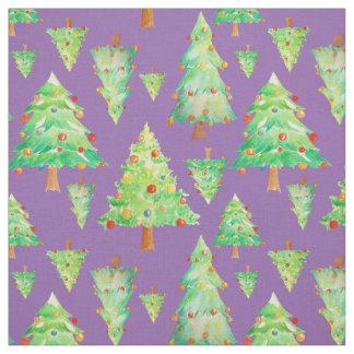 Watercolor Christmas Tree Decoration Fabric