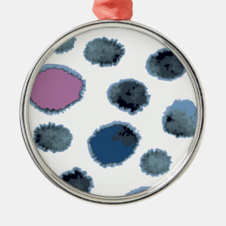 Watercolor circles metal ornament