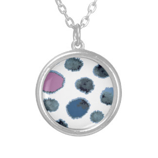Watercolor circles silver plated necklace