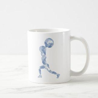 Watercolor Clean & Jerk in Blue Basic White Mug