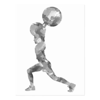 Watercolor Clean & Jerk in Grey Postcard